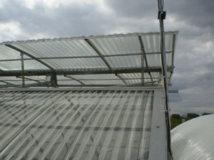 Ceiling  Cover with Polycarbonate Sheets